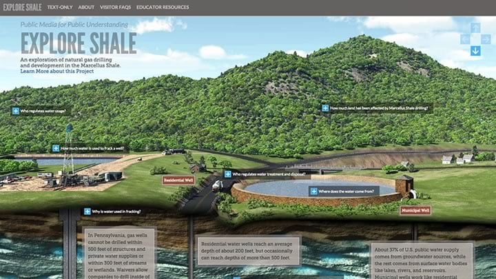Explore Shale Website